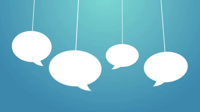 speech bubbles hanging on a wire - coiled spring stock videos and b-roll footage