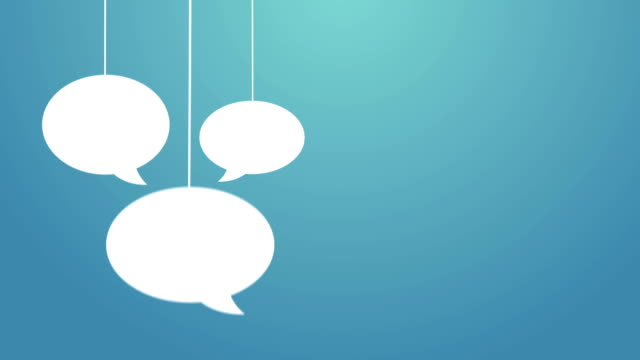 speech bubbles hanging on a wire - speech bubble stock videos & royalty-free footage
