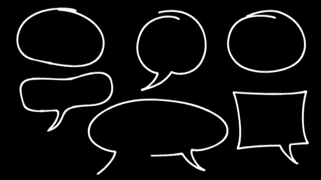 speech bubbles - comment box stock videos & royalty-free footage