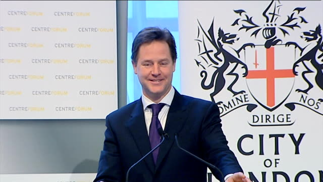 vidéos et rushes de speech by nick clegg to centre forum and the city of london corporation; clegg q&a sot - re executive directors on pay boards of other companies: -... - scottish culture