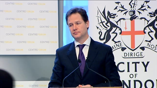 Speech by Nick Clegg to Centre Forum and the City of London Corporation QUESTION AND ANSWER SESSION Clegg Q re EXAMPLES OF POLITICIANS BEING IN...
