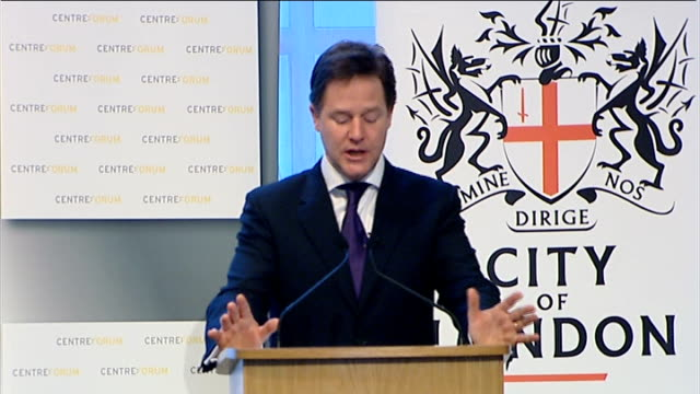 Speech by Nick Clegg to Centre Forum and the City of London Corporation Clegg speech SOT Political failure because Whitehall became so dependent on...