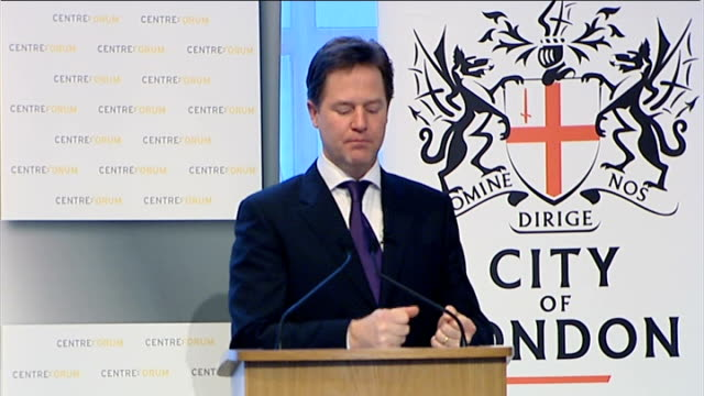 Speech by Nick Clegg to Centre Forum and the City of London Corporation Clegg speech SOT But it's not just shareholder power that matters Ultimately...