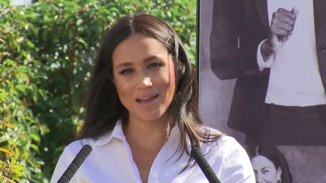 speech duchess of sussex at launch of the smart set talks about how she chose jigsaw as a brand for her smart works fashion collection - talking stock videos & royalty-free footage