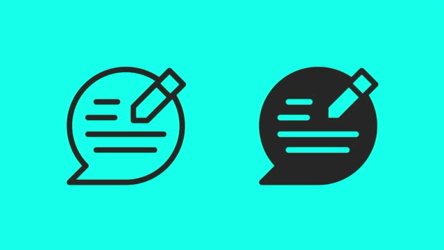 speech editor icons - vector animate - global communications vector stock videos & royalty-free footage
