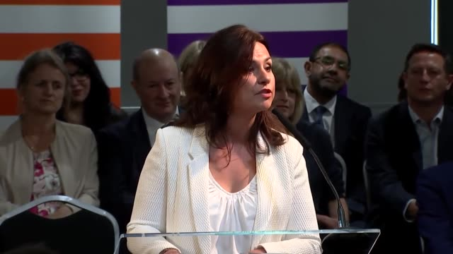 speech heidi allen mp change uk at their european election launch this is no rebel alliance this is the home of the change alliance we demand a... - heidi allen stock videos & royalty-free footage