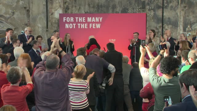 speech jeremy corbyn and labour political rally blame boris johnson for failing to leave the eu and deliver brexit - british labour party stock videos & royalty-free footage