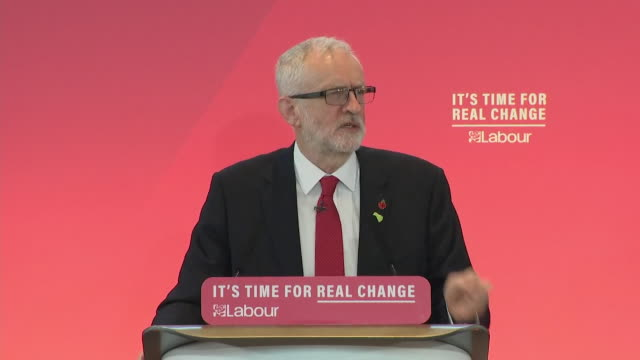 speech jeremy corbyn at labour political rally says the nhs is not for sale in regards to a trade deal with the us - sale stock videos & royalty-free footage