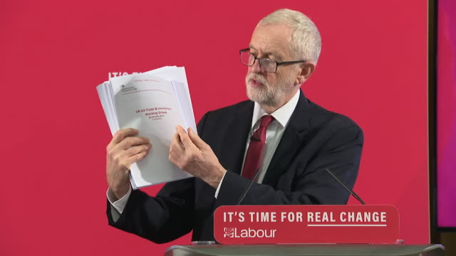 speech jeremy corbyn labour leader at press conference about document proving nhs was part of trade talks between uk and usa now we know the truth... - 10 11 years stock videos & royalty-free footage