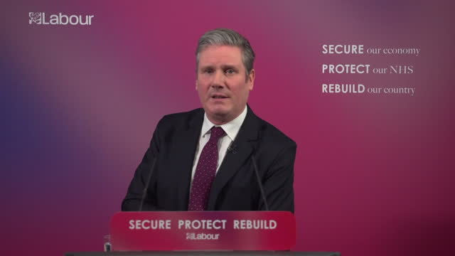 """speech keir starmer, labour leader, sets out his vision for the labour party """"for too long we have failed to realise that the only way to deliver... - the way forward stock videos & royalty-free footage"""