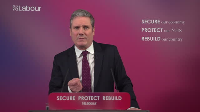 """speech keir starmer, labour leader, sets out his vision for the uk's recovery from the coronavirus pandemic """"we can go back to an unequal and... - the way forward stock videos & royalty-free footage"""