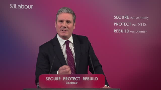"""speech keir starmer, labour leader, sets out his vision for uk's recovery from coronavirus pandemic """"if i was prime minister i would introduce a... - the way forward stock videos & royalty-free footage"""
