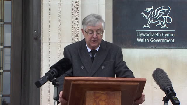 """speech mark drakeford, first minister of wales, pays tribute to duke of edinburgh following his death - rushes.mov - """"bbc news"""" stock videos & royalty-free footage"""
