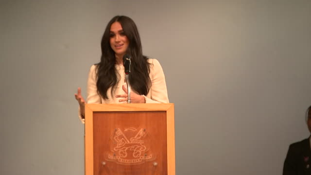 speech meghan duchess of sussex, at robert clack school of science in dagenham, about international women's day - multiracial group stock videos & royalty-free footage