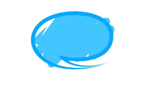 vidéos et rushes de discours de bulles ou discuter - discours