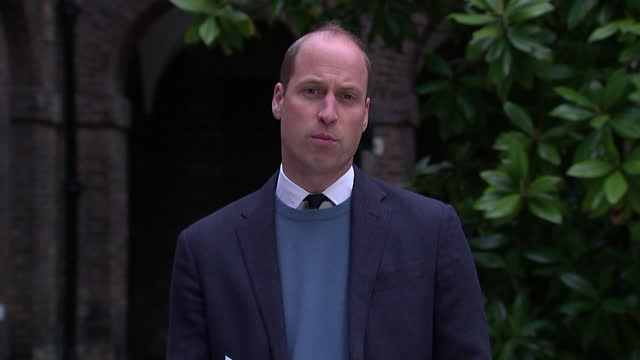 """speech prince william, about lord dyson report into panorama interview with princess diana and bbc failings as to how intv was obtained """"it is my... - 1995 stock videos & royalty-free footage"""