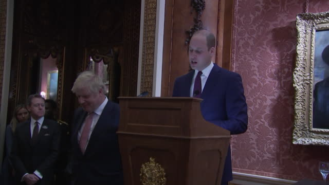 speech prince william at buckingham palace reception to mark the uk africa investment summit speaks about what africa means to him how he propsed to... - candid stock videos & royalty-free footage