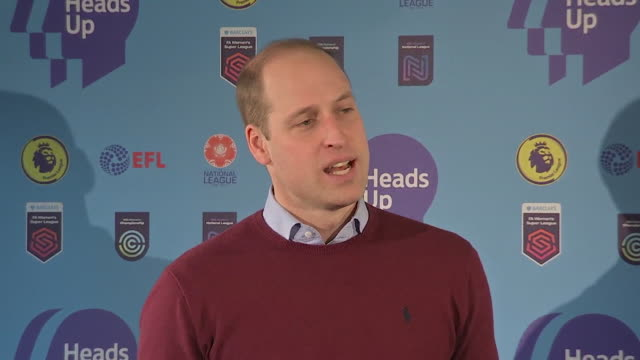 """speech prince william at football event about the heads up campaign """"if we can use the power of sport to have a big conversation on mental health,... - mental health stock videos & royalty-free footage"""