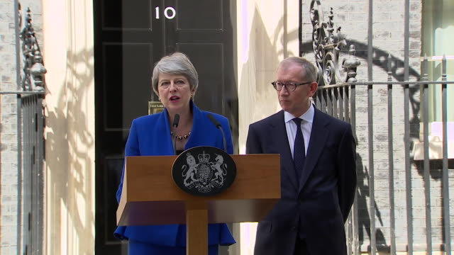 speech theresa may gives farewell speech as prime minister thanks her team public servants and the british people for giving me a chance to serve my... - last day stock videos & royalty-free footage