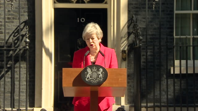 speech theresa may pm resigns as leader of the conservative party - theresa may stock videos & royalty-free footage