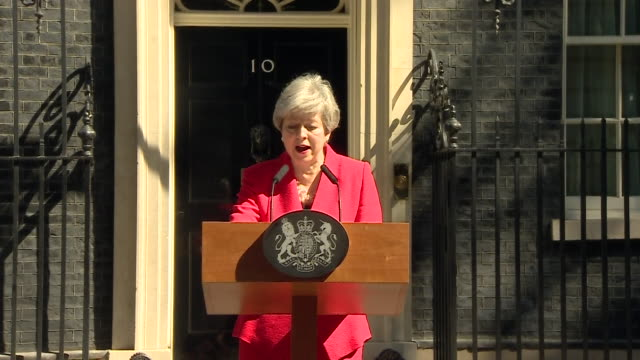 speech theresa may pm resigns as leader of the conservative party - crying stock videos & royalty-free footage