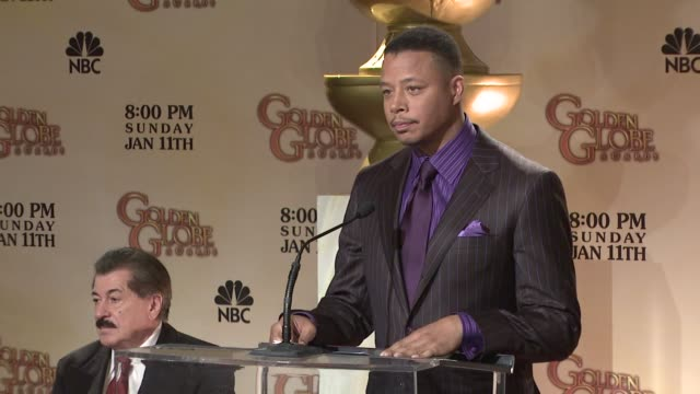 terrence howard announces the 66th annual golden globe awards nominees at the 66th annual golden globe awards nominations at los angeles ca - terrence howard stock videos and b-roll footage