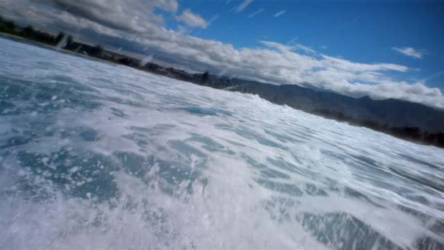 stockvideo's en b-roll-footage met pov, speed boat in ocean, california, usa - noordelijke grote oceaan
