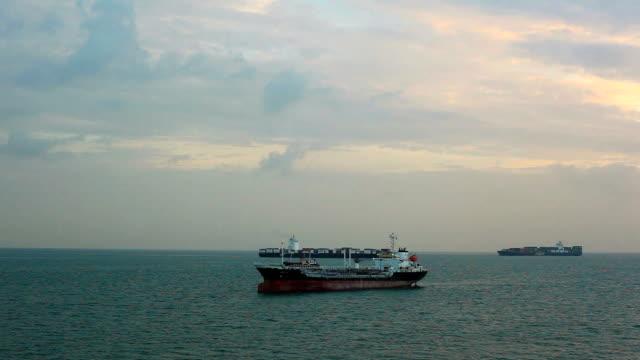 Frachtschiff Zeitraffer