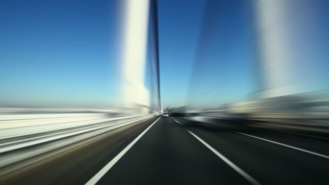 speed driving on highway at sunny day - plusphoto stock videos & royalty-free footage