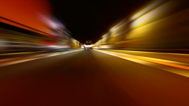 speed driving on highway - tunnel stock videos & royalty-free footage