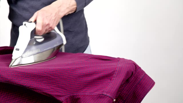 speed ironing time-lapse - ironing board stock videos & royalty-free footage