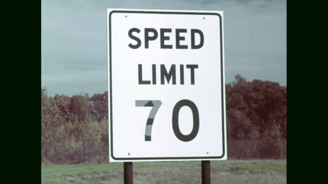 cu speed limit 70 road sign / united states - speed limit sign stock videos & royalty-free footage