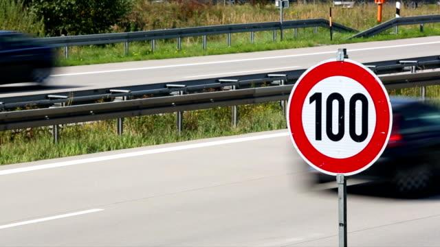 speed limit on german autobahn + audio - number 100 stock videos & royalty-free footage