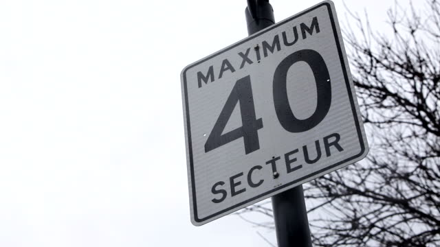 speed limit sign during a rainy day - speed limit sign stock videos & royalty-free footage