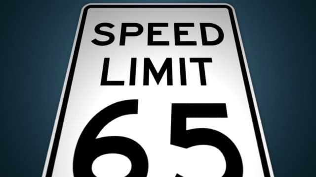 speed limits 35mph 45mph 55mph 65mph photo enforced animation set - speed limit sign stock videos & royalty-free footage