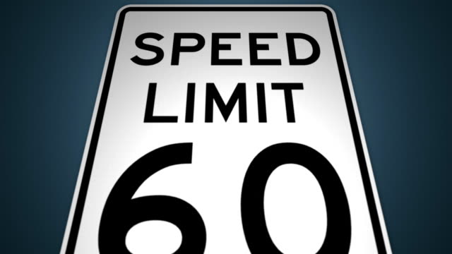 speed limits 40mph 50mph 60mph 70mph photo enforced animation set - speed limit sign stock videos & royalty-free footage