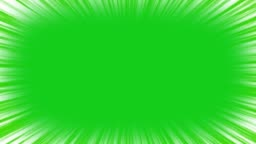 Speed lines on green screen. 4k chroma key animation