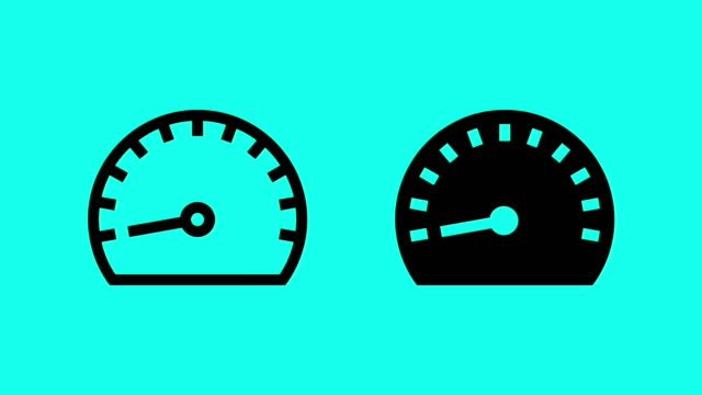 speed meter - vector animate - speedometer stock videos & royalty-free footage