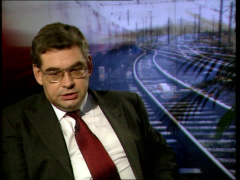 speed restrictions eased/rail task force meets itn gir int steve marshall interview sot were right to be cautious after hatfield/ have done lot of... - hatfield stock videos and b-roll footage