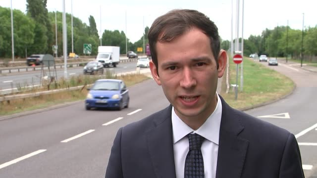 speed restrictions placed on some roads because transport for london can't afford repairs uk london traffic along a40 where speed restriction is in... - high point video stock e b–roll
