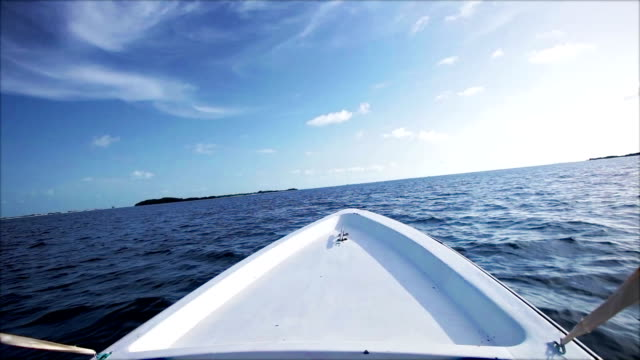 hd speed sailing on a motor boat - kite sailing stock videos and b-roll footage