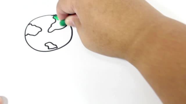 geschwindigkeit von hand zeichnung. - zeichnen stock-videos und b-roll-filmmaterial