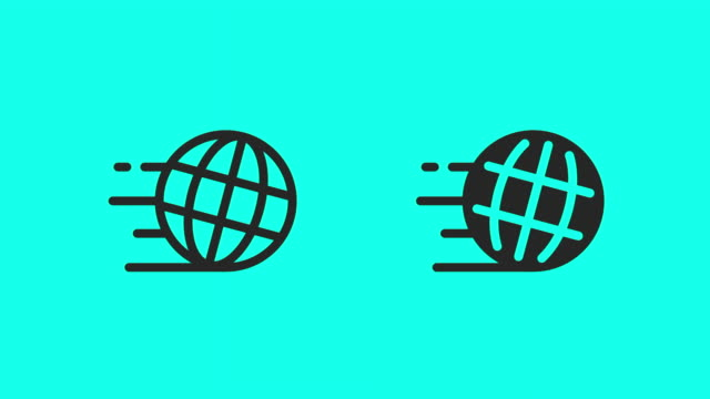 speed world icons - vector animate - global communications vector stock videos & royalty-free footage