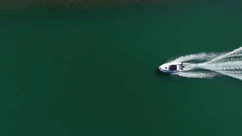 speedboat aerial view - luxury stock videos & royalty-free footage