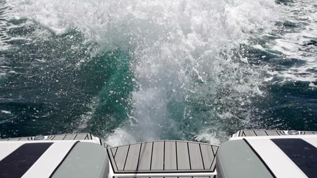 Speedboat wake