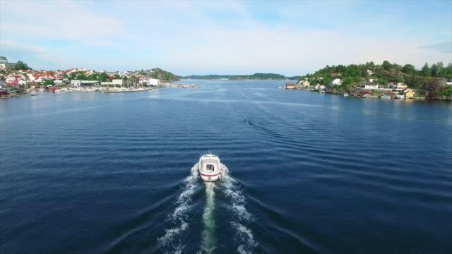 speeding along the kragero coastline - telemark stock videos and b-roll footage