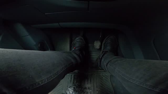 speeding car pedals close up. foot controls in a car. the driver's feet are very active works with the gas, brake and clutch pedals - accelerator pedal stock videos & royalty-free footage