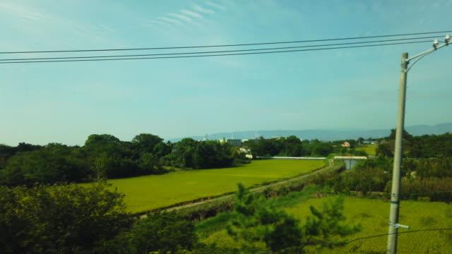 日本の田舎をスピードを出す - ケーブル線点の映像素材/bロール