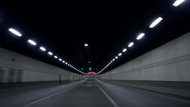 speeding through tunnel - vanishing point stock videos and b-roll footage