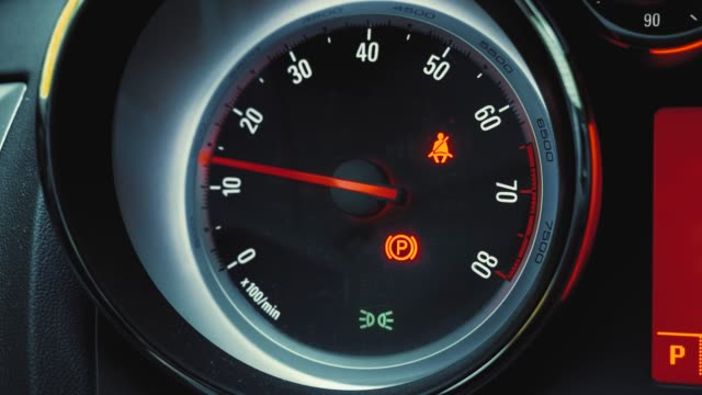 speedometer and tachometer in a car - speedometer stock videos & royalty-free footage